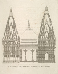 Elevation Of The Temple Of Vishveshwur at Benares.